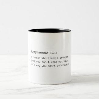 Tasse 2 Couleurs Définition de programmeur