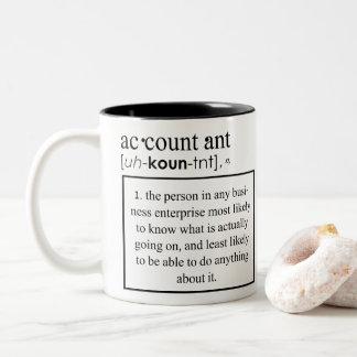 Tasse 2 Couleurs Définition drôle de comptable - signification de