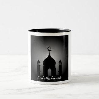 Tasse 2 Couleurs Dôme de mosquée et silhouette de minaret