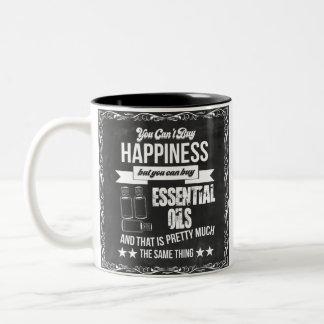 Tasse 2 Couleurs Égaux de achat d'huiles essentielles bonheur