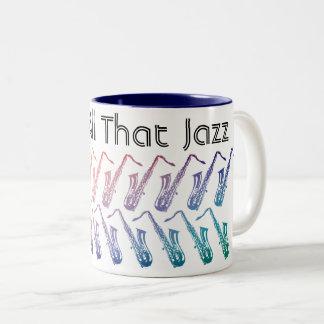 Tasse 2 Couleurs Et tout ce motif de jazz