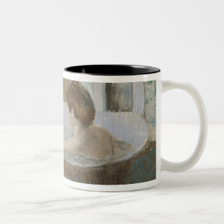 Tasse 2 Couleurs Femme d'Edgar Degas | à son Bath, épongeant sa