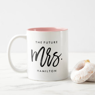 Tasse 2 Couleurs Future Mme Personalized Engagement