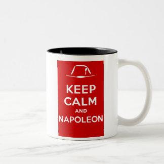 Tasse 2 Couleurs Gardez le calme et le napoléon