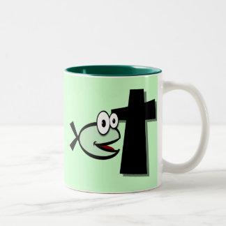 Tasse 2 Couleurs Gardez vos yeux sur la croix