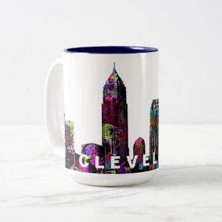 Tasse 2 Couleurs Graffiti de Cleveland