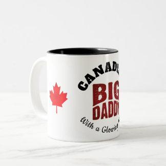 Tasse 2 Couleurs GRAND PAPA - Canadien avec un coeur rougeoyant
