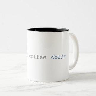 Tasse 2 Couleurs Heure pour le HTML drôle de pause-café