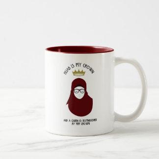 Tasse 2 Couleurs Hijab est ma couronne - VERRES