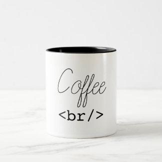 Tasse 2 Couleurs HTML drôle de pause-café