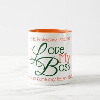 Tasse 2 Couleurs J'aime mon patron