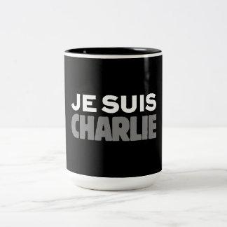 Tasse 2 Couleurs Je Suis Charlie - je suis noir de Charlie