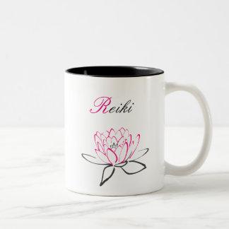 Tasse 2 Couleurs Jolie fleur de Reiki Lotus