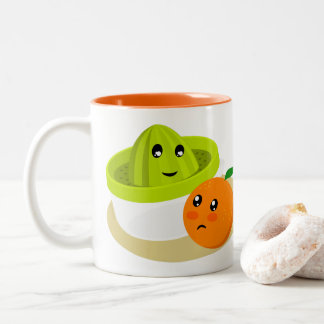 Tasse 2 Couleurs Jus d'orange (orange et presse-fruits)
