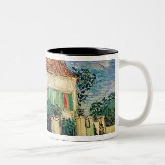 Tasse 2 Couleurs La Maison Blanche de Vincent van Gogh | la nuit,