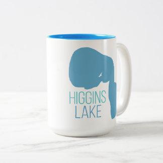 Tasse 2 Couleurs Lac Higgins, comté de Roscommon, Michigan