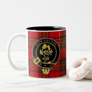 Tasse 2 Couleurs Le clan écossais Crest le chardon rose