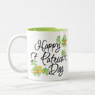 Tasse 2 Couleurs Le jour de St Patrick heureux