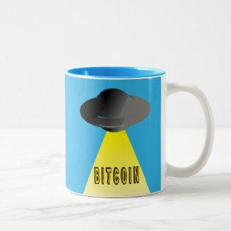 Tasse 2 Couleurs Les aliens veulent Bitcoin aussi