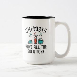 Tasse 2 Couleurs Les chimistes ont toutes les solutions