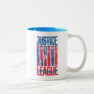 Tasse 2 Couleurs Ligue de justice art bleu et rouge de | de groupe
