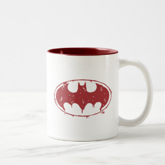Tasse 2 Couleurs Logo de suintement de batte rouge de Batman |