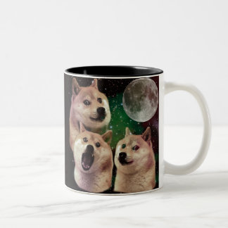 Tasse 2 Couleurs Lune de doge - l'espace de doge - chien - doge -