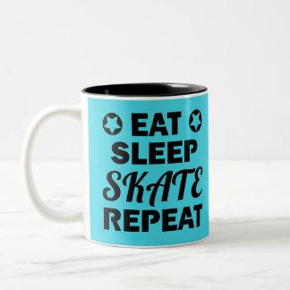Tasse 2 Couleurs Mangez la répétition de patin de sommeil, rouleau
