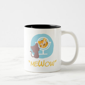 "Tasse 2 Couleurs ""meWow"" - (je + Meow + Wow = MeWow)"