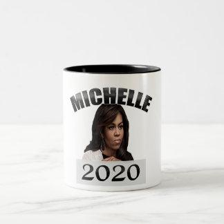 Tasse 2 Couleurs Michelle Obama pour le président 2020