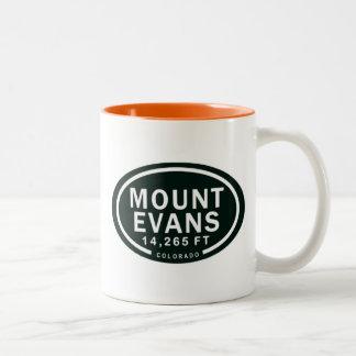 Tasse 2 Couleurs Montagne rocheuse d'Evans 14.265 pi le Colorado de