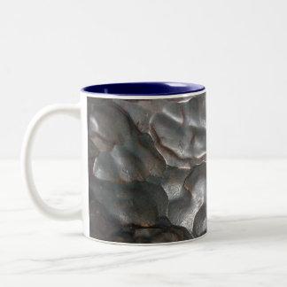 Tasse 2 Couleurs Motif métallique de roche de météorite,