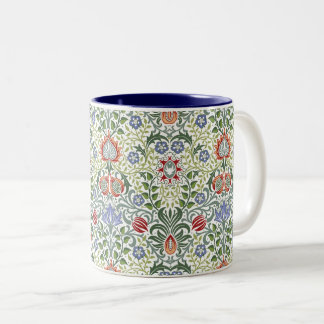 Tasse 2 Couleurs Motif vintage persan floral de William Morris