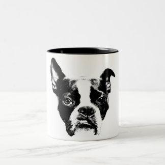 Tasse 2 Couleurs Muggin moyen ! Attitude de Boston Terrier