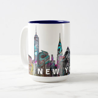 Tasse 2 Couleurs New York City dans le graffiti