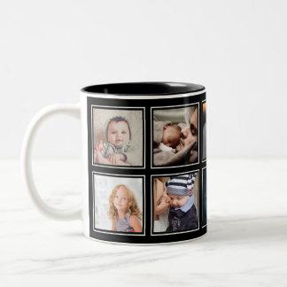 Tasse 2 Couleurs Noir moderne élégant de bébé de collage fait sur