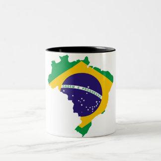 Tasse 2 Couleurs Pays brésilien