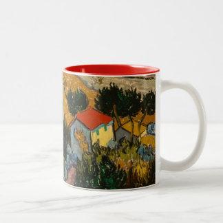 Tasse 2 Couleurs Paysage de Vincent van Gogh | avec la Chambre et