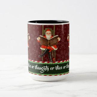 Tasse 2 Couleurs Père Noël vilain ou Nice