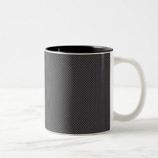Tasse 2 Couleurs Polymère noir et gris de fibre de carbone