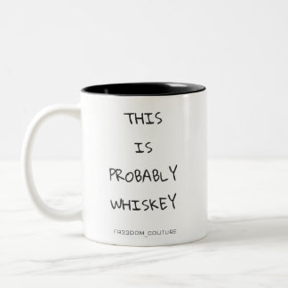 TASSE 2 COULEURS PROBABLEMENT WHISKEY