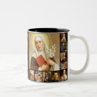 Tasse 2 Couleurs Saints, images saintes, Jésus, Mary, St Joseph
