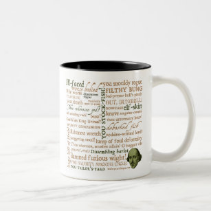 Tasse 2 Couleurs Shakespeare insulte la collection