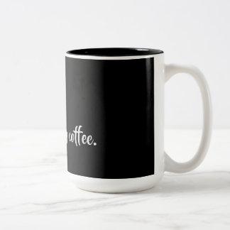 Tasse 2 Couleurs Shhh buvant de mon café