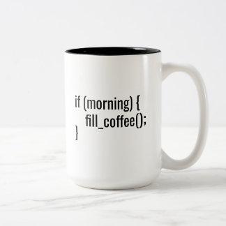Tasse 2 Couleurs Si HTML drôle de codeur de programmeur de café de