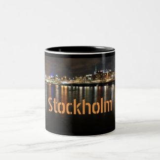 Tasse 2 Couleurs Stockholm, Suède la nuit