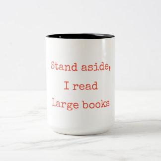 Tasse 2 Couleurs Support de côté, j'ai lu de grands livres
