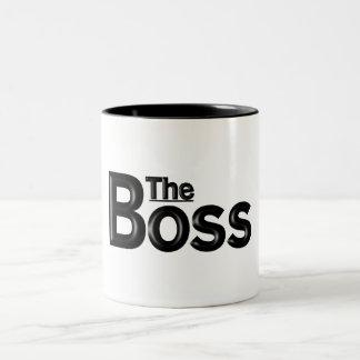 """Tasse 2 Couleurs """"Tasse de travail du patron"""""""