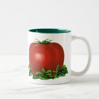 Tasse 2 Couleurs Tomate mûre rouge vintage, légumes et fruits