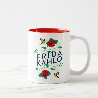 Tasse 2 Couleurs Typographie florale de Frida Kahlo |
